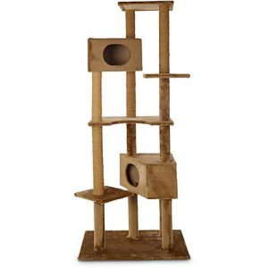 Animaze 6-Level Brown Cat Tree, 76″ H