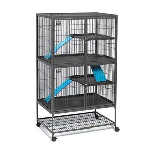 Midwest Ferret Nation Double Unit with Stand Ferret Cage, 36″ L X 25″ W X 62.5″ H