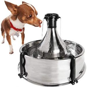 PetSafe Drinkwell 360 Stainless Steel Multi-Pet Dog and Cat Water Fountain, 128 oz.