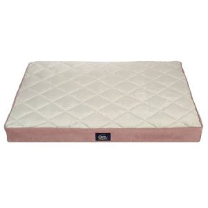 Serta Ortho Quilted Pillow Top Dog Bed, Large, Mauve