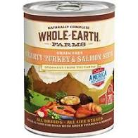 Whole Earth Farms Grain-Free Hearty Turkey & Salmon Stew Canned Dog Food, 12.7-oz, case of 12
